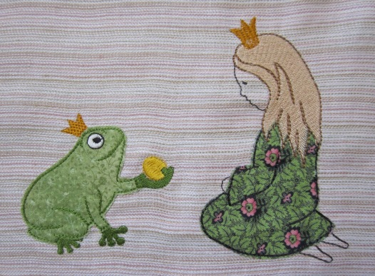 embroidery design king frog