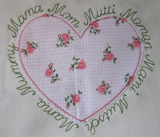 "embroidery design  ""heart for mother"""