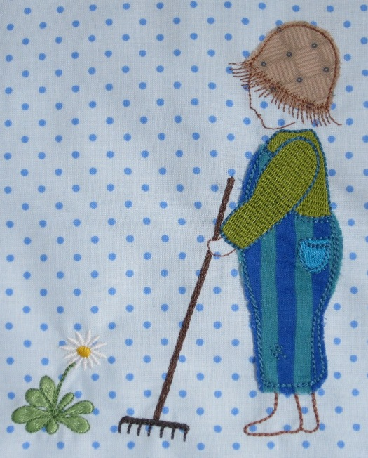 "embroidery design ""little gardener"""