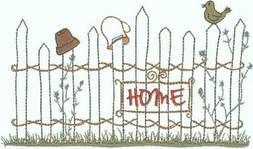 embroidery design  garden fence