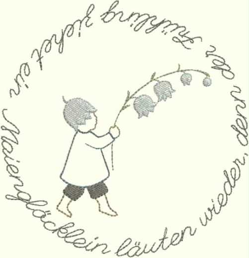 "embroidery design ""child with lily of the valley"""