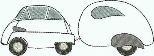embroidery design Isetta BMW