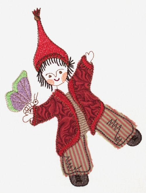"embroidery design ""forest girl"""