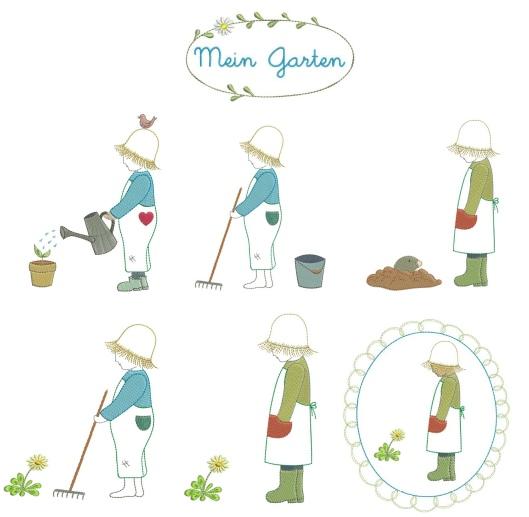 Stickdateien-Serie mein Garten bei Stickdateien Shop kaufen